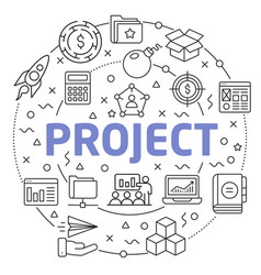 project linear slide for the vector image