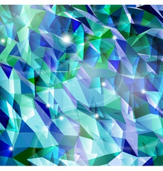 Abstract cyan background Combination of triangle vector image