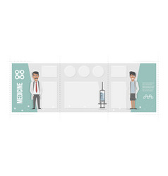 medical brochure characters of doctors and vector image vector image