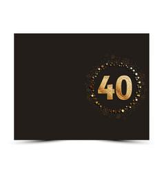 40 years anniversary card vector