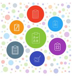 7 checklist icons vector image