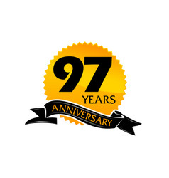 97 years ribbon anniversary vector image