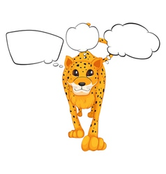 A cheetah with empty callouts vector image