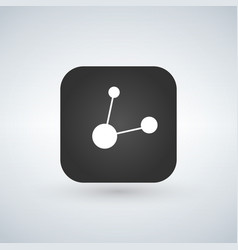 app button with share symbol sign black rounded vector image