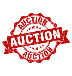 auction stamp sign seal vector image