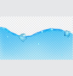 Background of transparent water vector image
