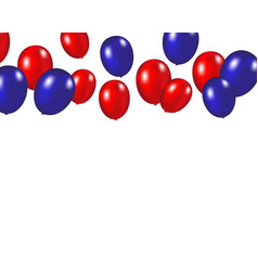 Balloons background on a white vector