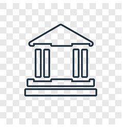 bank concept linear icon isolated on transparent vector image