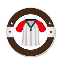 baseball sport shirt uniform emblem icon vector image