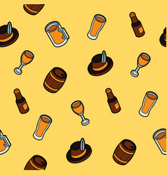 beer color outline isometric pattern vector image