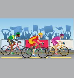 bicycle racing tournament vector image