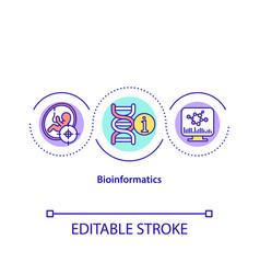 Bioinformatics concept icon vector