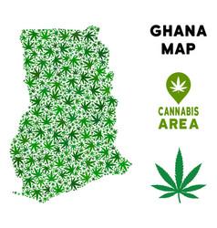 Cannabis composition ghana map vector