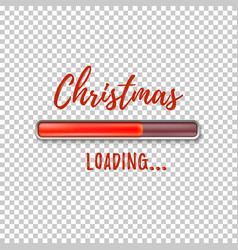 christmas loading abstract design template vector image