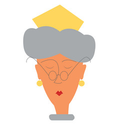 clipart a queen wearing a round eye glass and vector image