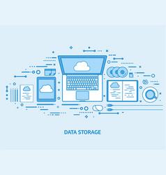 cloud computing media data server web storage vector image