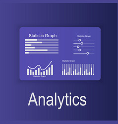 data analysis and vector image