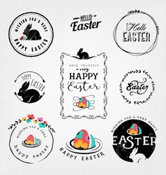Easter Greeting Card Design Elements vector image