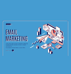 email marketing landing page spammer services vector image