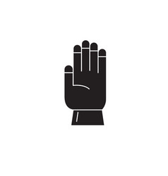 farm glove black concept icon farm glove vector image