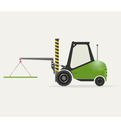 Forklift with crane vector