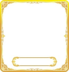 Frame gold thai style floral vector