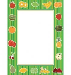 Fruit frame vector