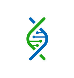 genetic logo concept dna isolated logotype vector image