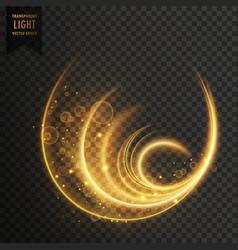 Golen magic light effect vector