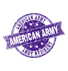 Grunge textured american army stamp seal vector