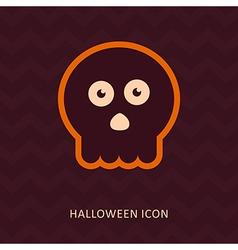 Halloween skull silhouette icon vector