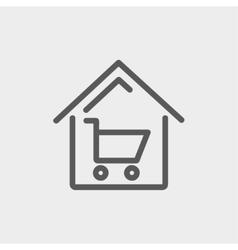 House shopping thin line icon vector