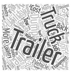 How Trailers Aid Truck Use text background vector image