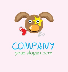 Hungry love dog logo vector