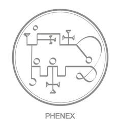 Icon with symbol demon phenex vector