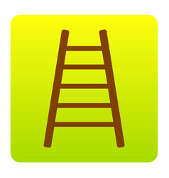 ladder sign brown icon at vector image