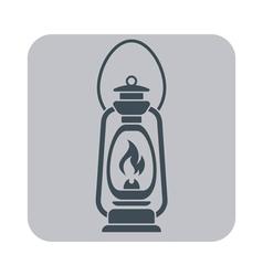 Lanternantique old kerosene lamp vector