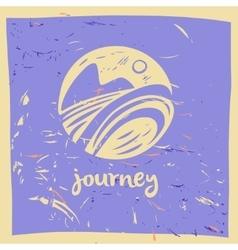 logo travel company Tourist trip The vector image