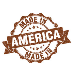 made in america round seal vector image