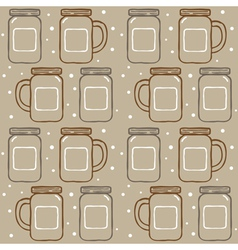 Mason jar pattern vector