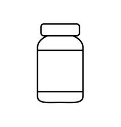 medicine bottle icon vector image