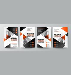 modern orange and black design template vector image