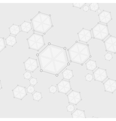 Molecular seamless structure abstract drawing vector