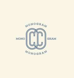 Monogram cc vector