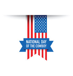 National day of the cowboy background vector