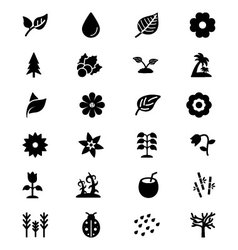 Nature Icons 2 vector image