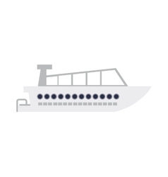 Nautical boat icon vector