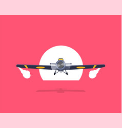 old airplane flat isolated on background vector image