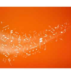 Orange music background vector