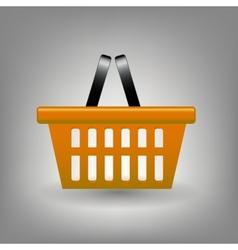 Orange shopping basket icon vector image